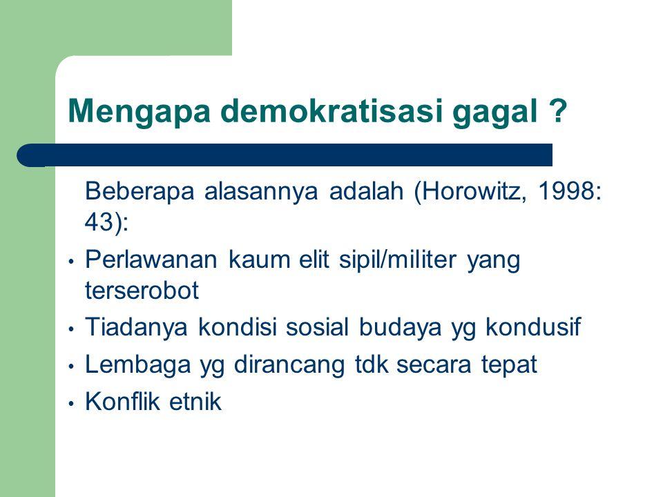 Mengapa demokratisasi gagal