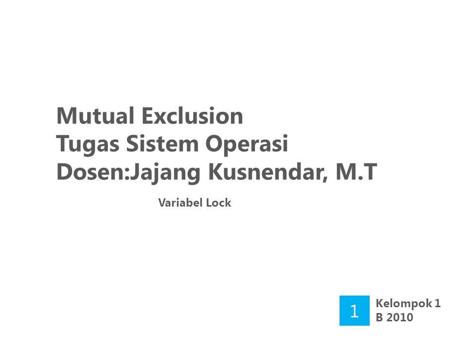 Dosen:Jajang Kusnendar, M.T