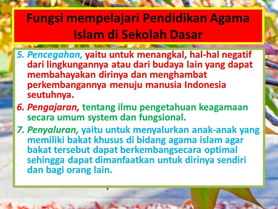 Fungsi mempelajari Pendidikan Agama Islam di Sekolah Dasar