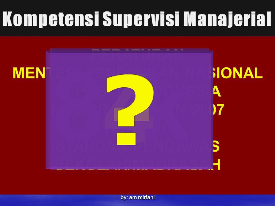 8-k 4 - Kompetensi Supervisi Manajerial PERATURAN