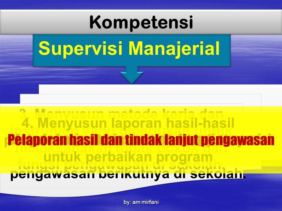 Supervisi Manajerial Kompetensi