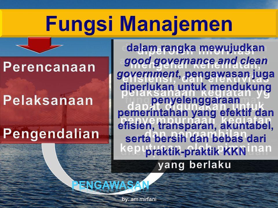 Fungsi Manajemen Perencanaan Pelaksanaan Pengendalian
