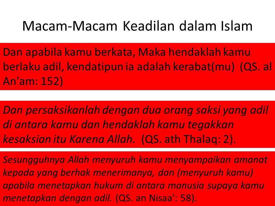 Macam-Macam Keadilan dalam Islam