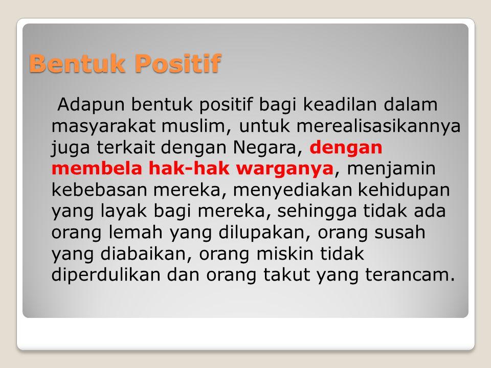 Bentuk Positif
