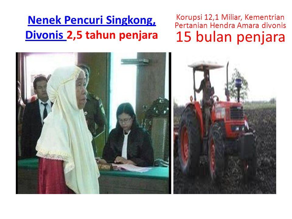 Nenek Pencuri Singkong, Divonis 2,5 tahun penjara