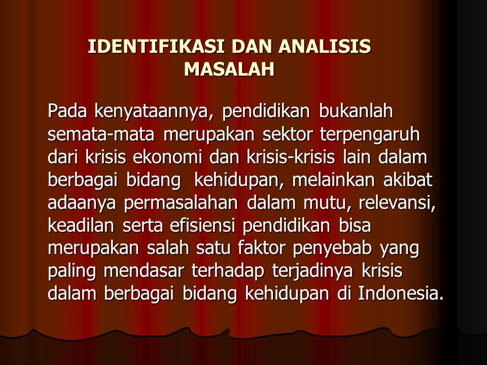 IDENTIFIKASI DAN ANALISIS MASALAH