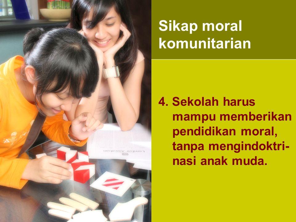 Sikap moral komunitarian
