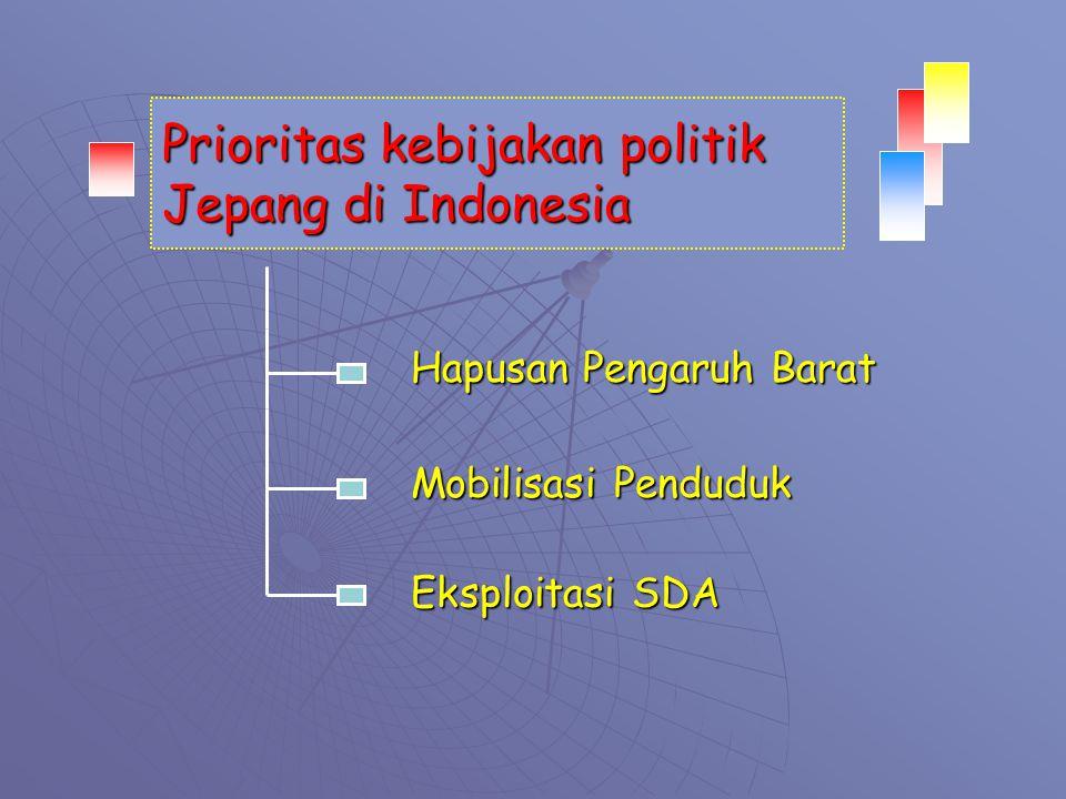 Prioritas kebijakan politik Jepang di Indonesia