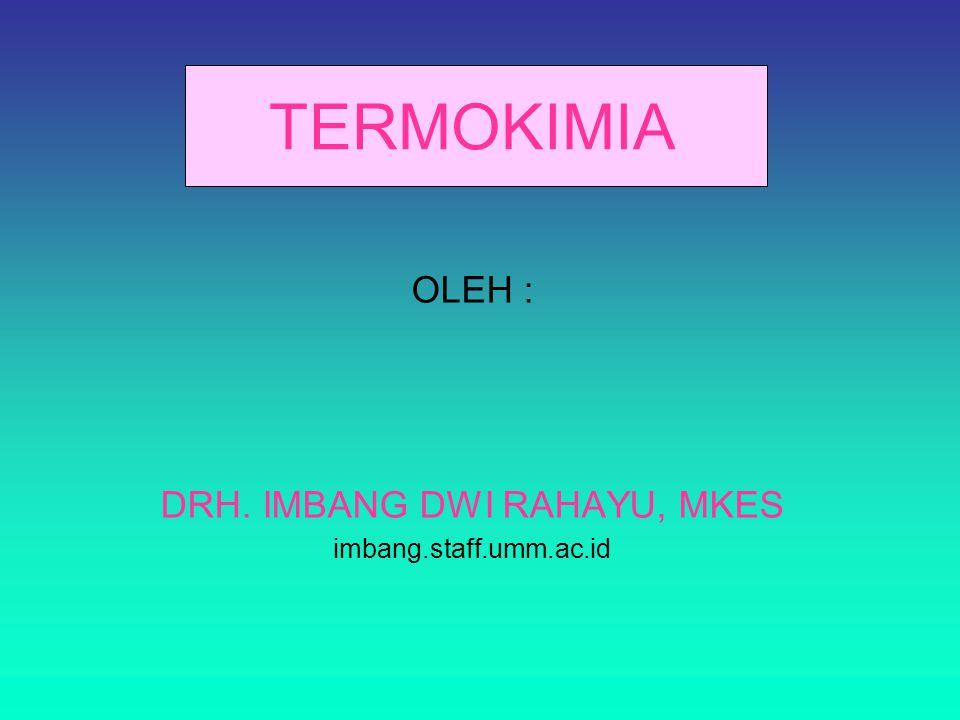 OLEH : DRH. IMBANG DWI RAHAYU, MKES imbang.staff.umm.ac.id
