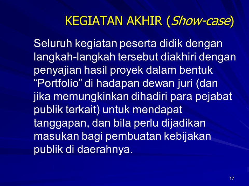 KEGIATAN AKHIR (Show-case)
