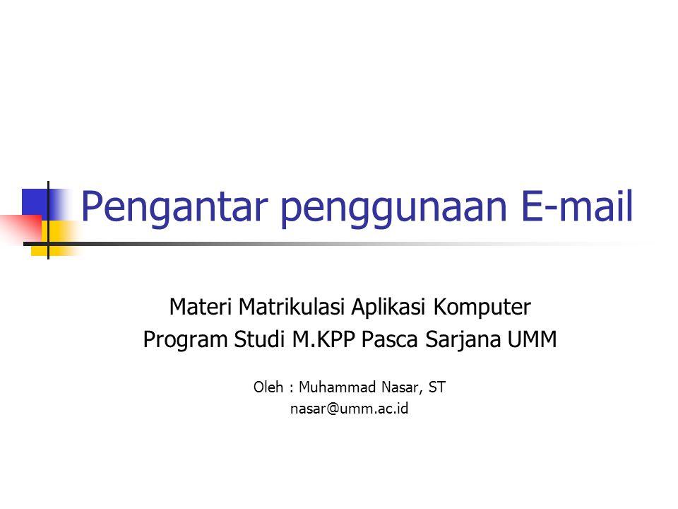 Pengantar penggunaan E-mail