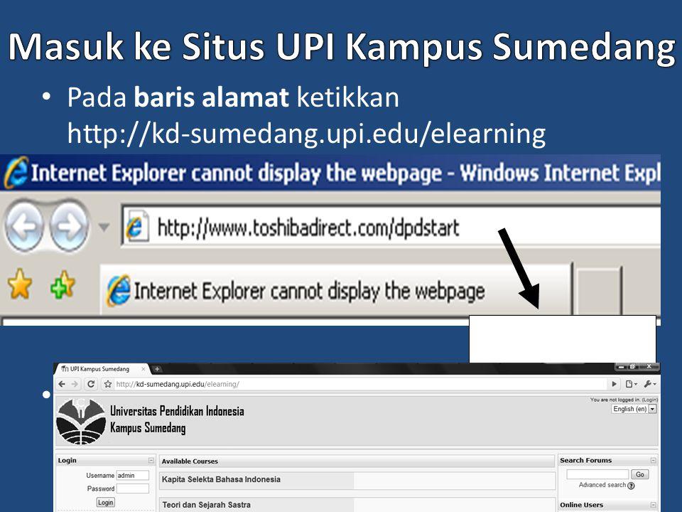 Masuk ke Situs UPI Kampus Sumedang
