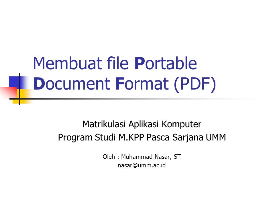 Membuat file Portable Document Format (PDF)