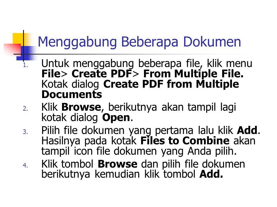 Menggabung Beberapa Dokumen