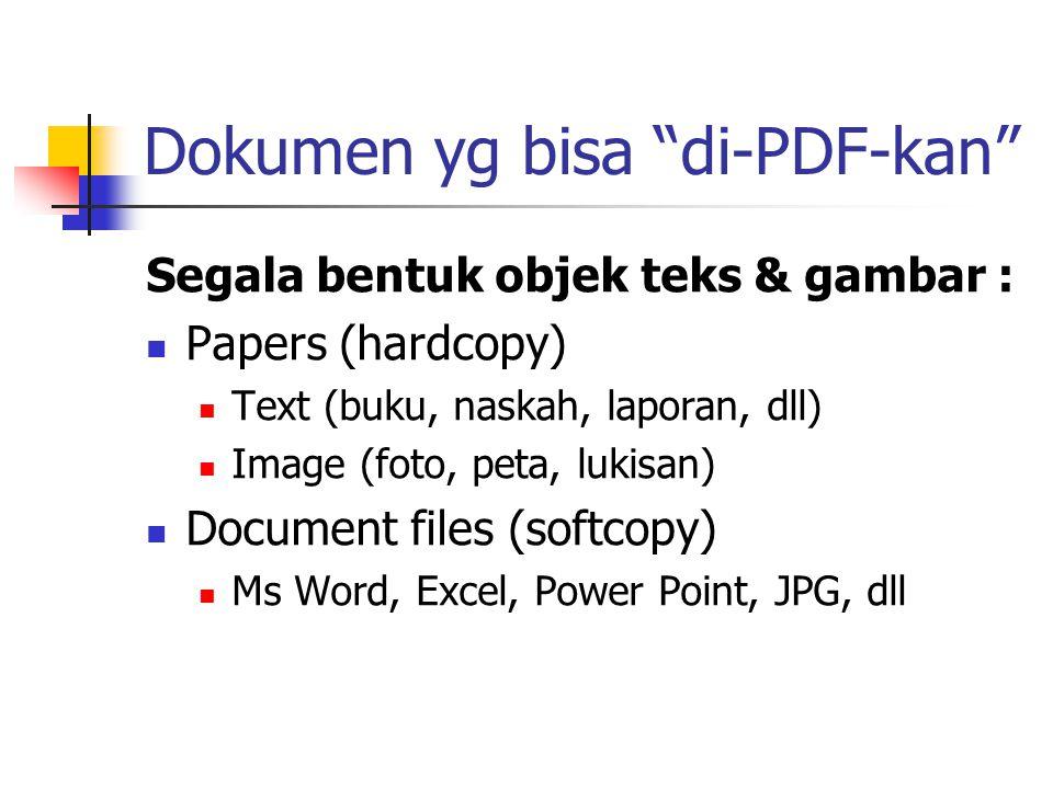 Dokumen yg bisa di-PDF-kan