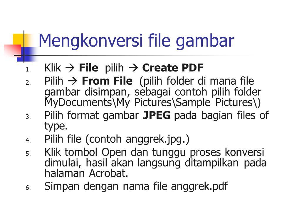 Mengkonversi file gambar