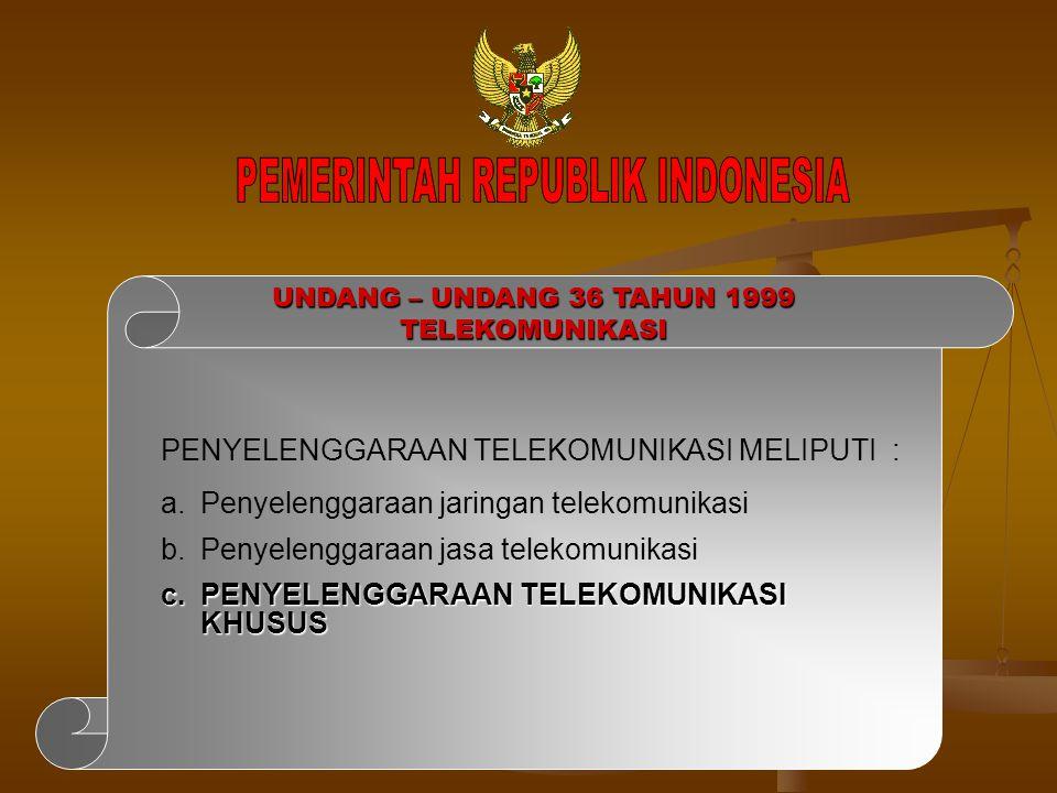 PEMERINTAH REPUBLIK INDONESIA