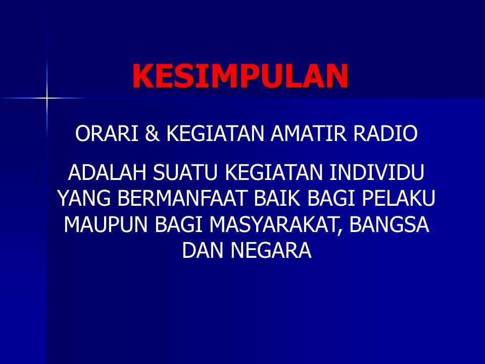 ORARI & KEGIATAN AMATIR RADIO