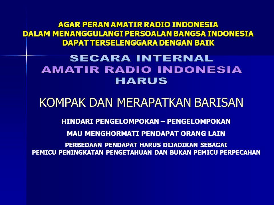 AMATIR RADIO INDONESIA HARUS