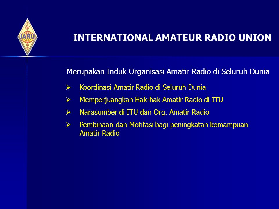 INTERNATIONAL AMATEUR RADIO UNION