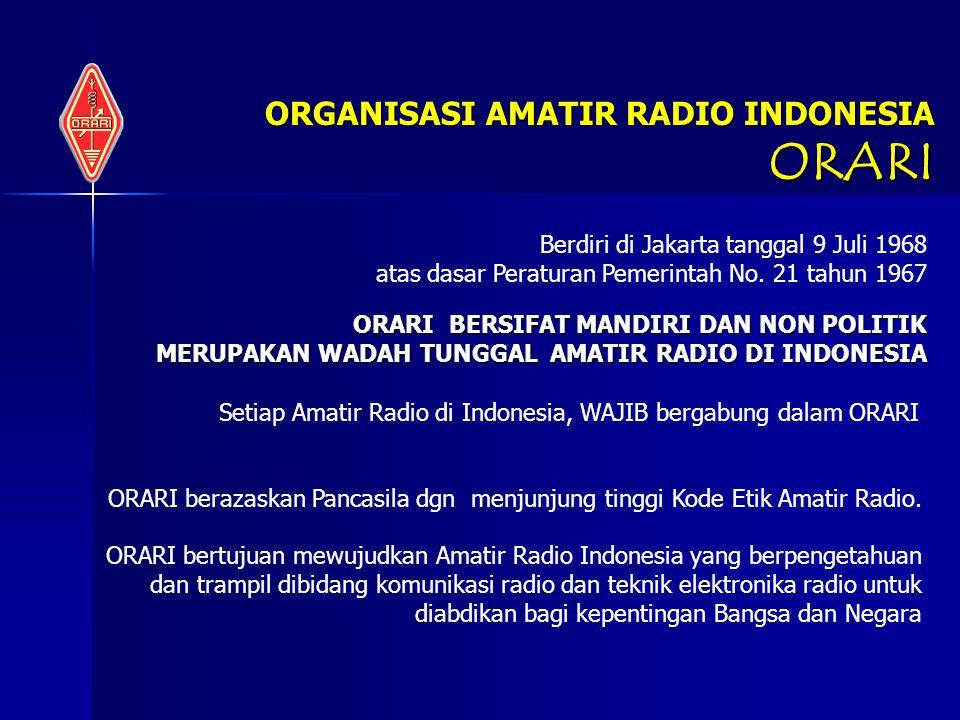 ORGANISASI AMATIR RADIO INDONESIA ORARI