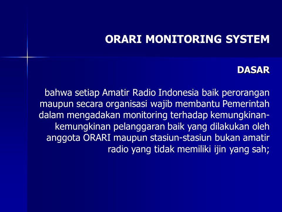 ORARI MONITORING SYSTEM