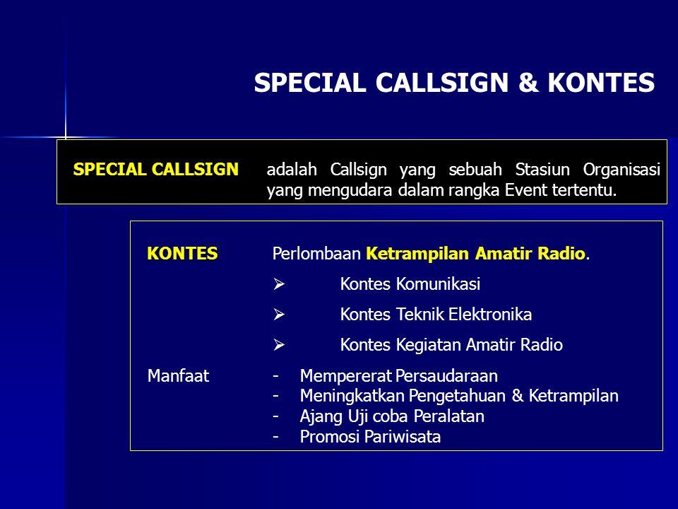 SPECIAL CALLSIGN & KONTES