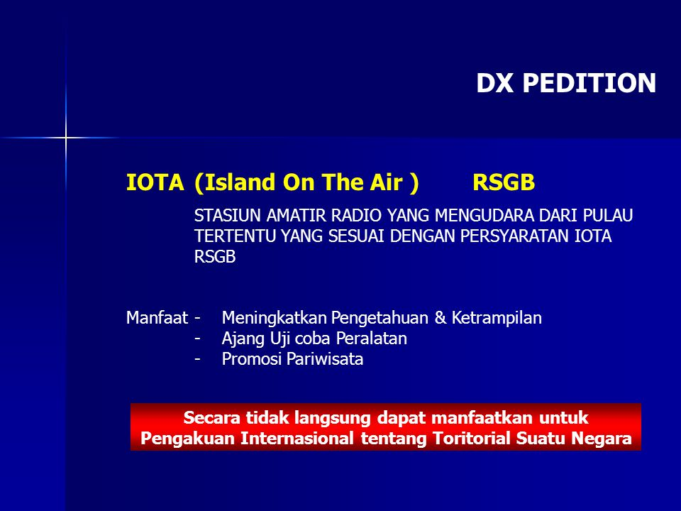 DX PEDITION IOTA (Island On The Air ) RSGB