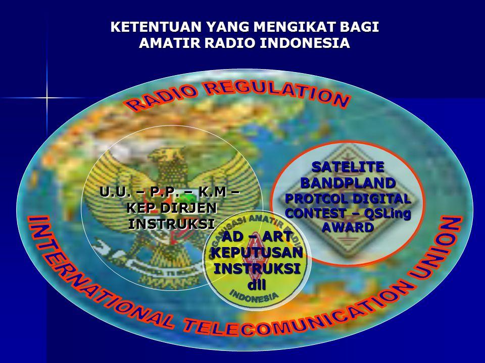 KETENTUAN YANG MENGIKAT BAGI AMATIR RADIO INDONESIA