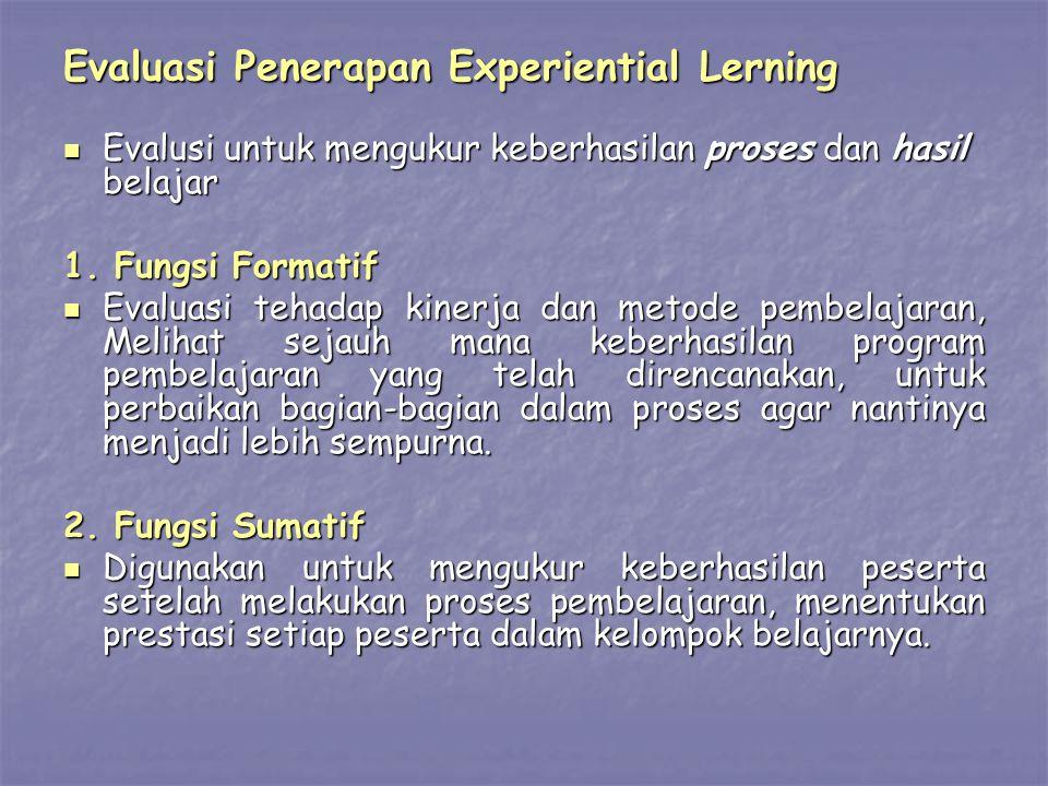 Evaluasi Penerapan Experiential Lerning