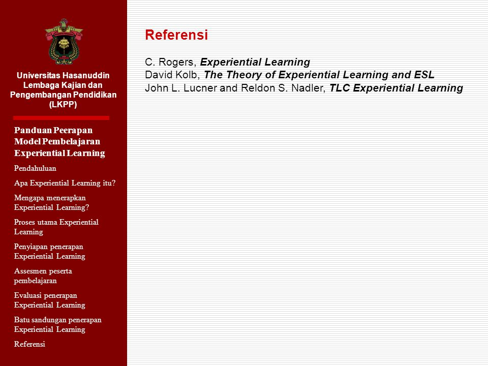 Referensi C. Rogers, Experiential Learning