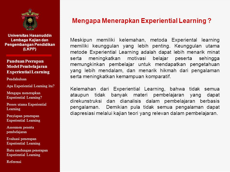 Mengapa Menerapkan Experiential Learning
