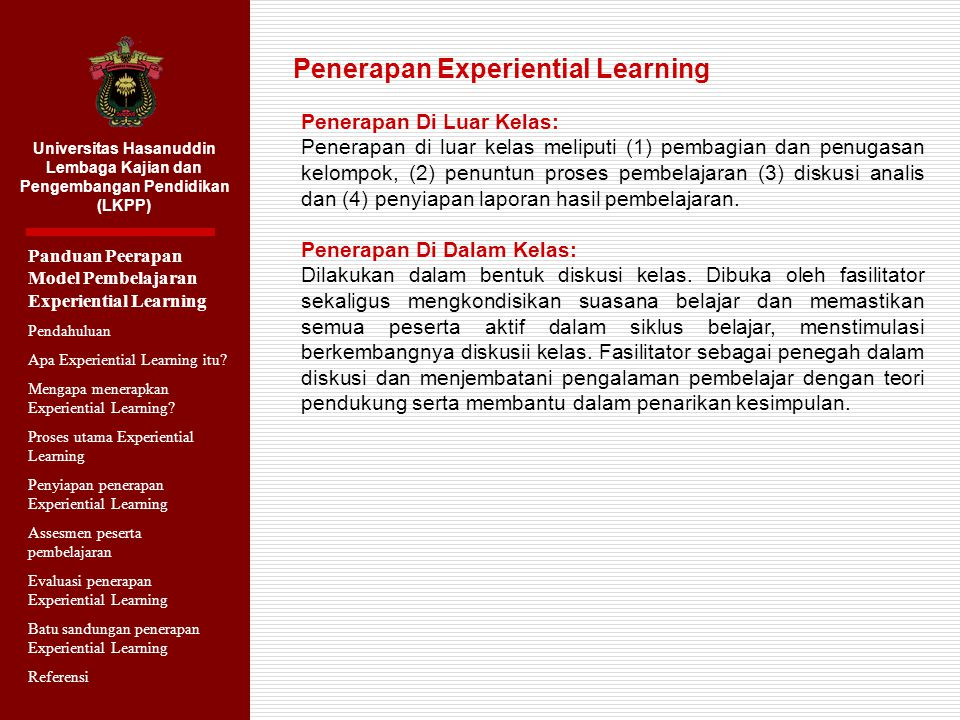 Penerapan Experiential Learning