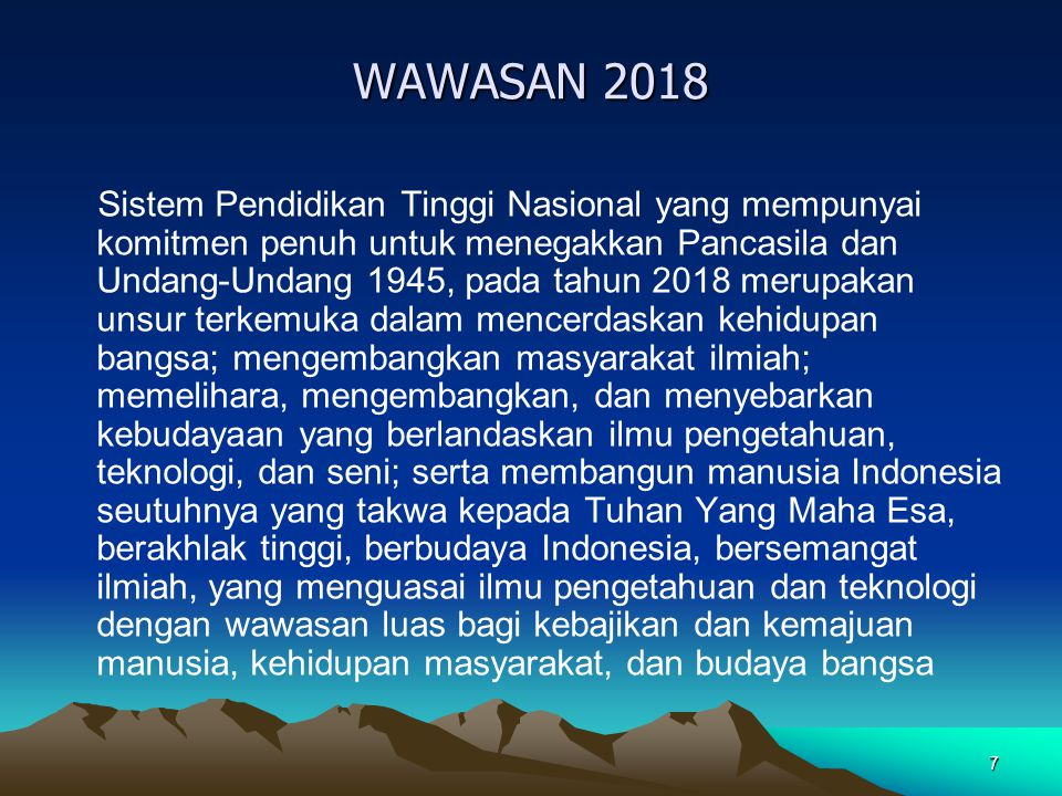 WAWASAN 2018