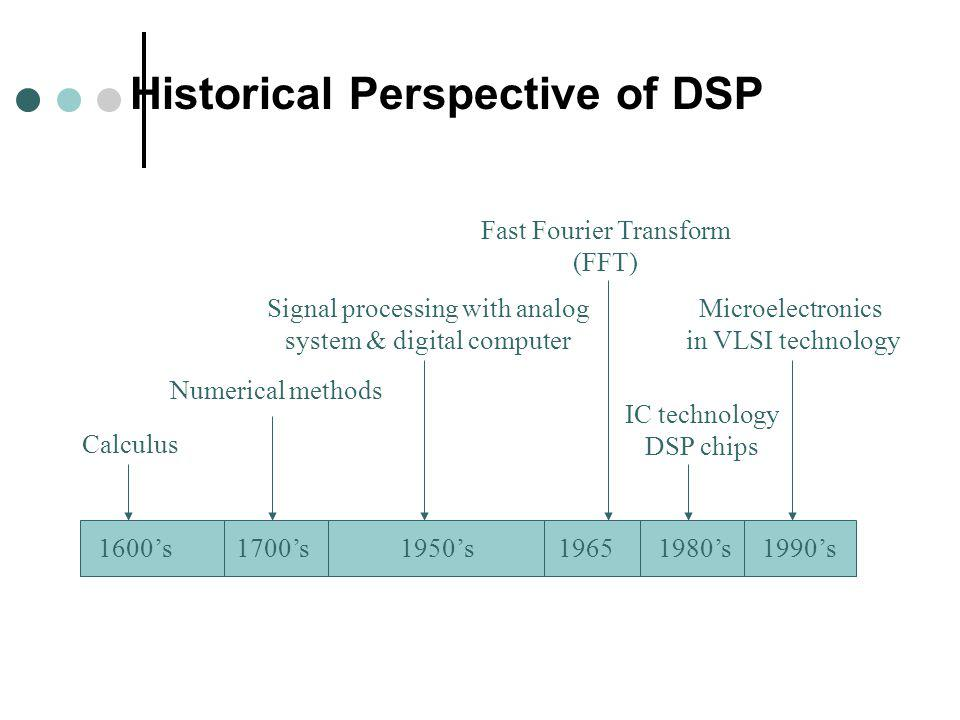 Historical Perspective of DSP