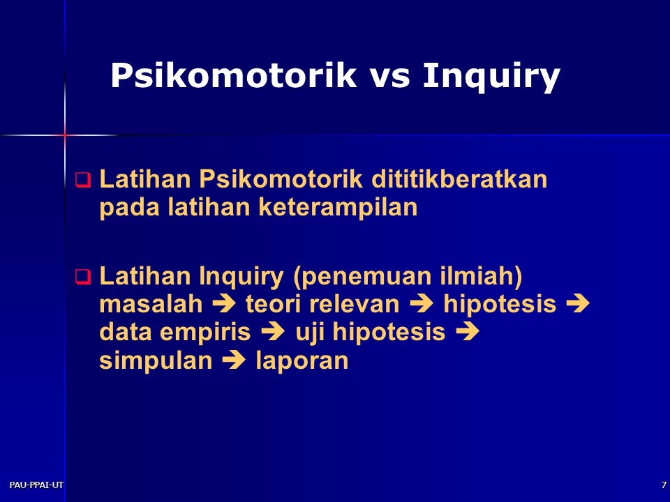 Psikomotorik vs Inquiry