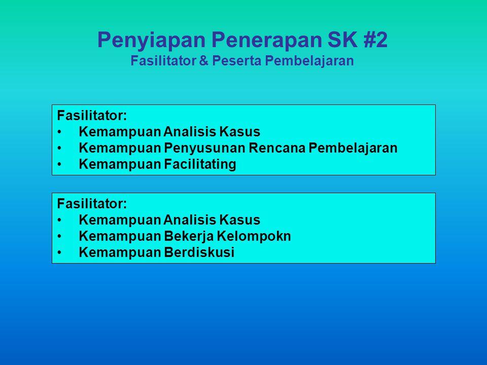 Penyiapan Penerapan SK #2 Fasilitator & Peserta Pembelajaran