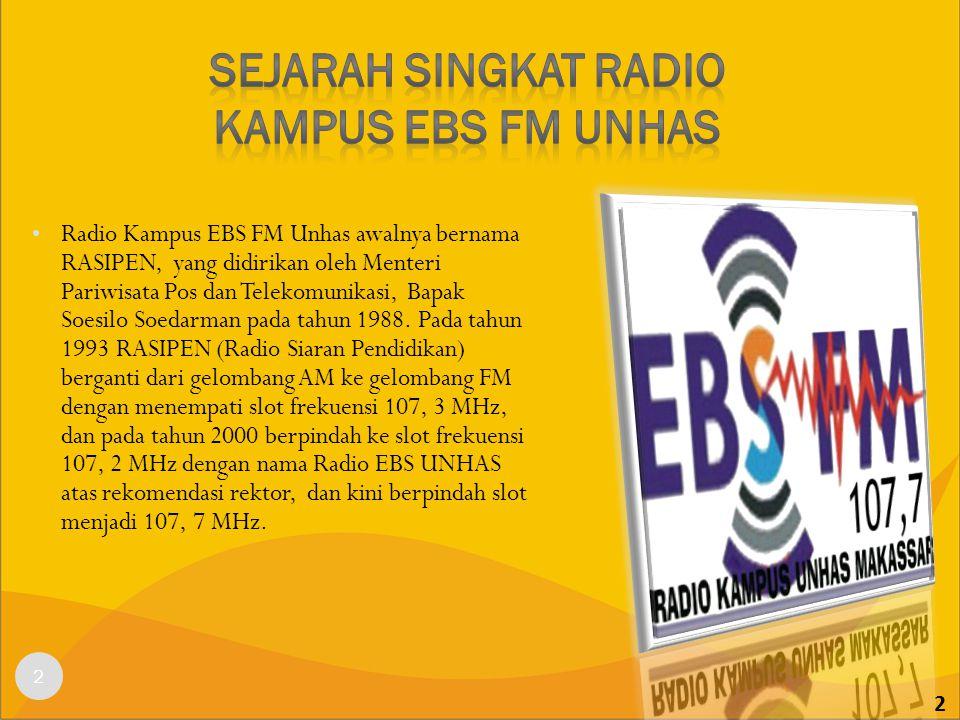 Sejarah singkat radio kampus ebs fm unhas