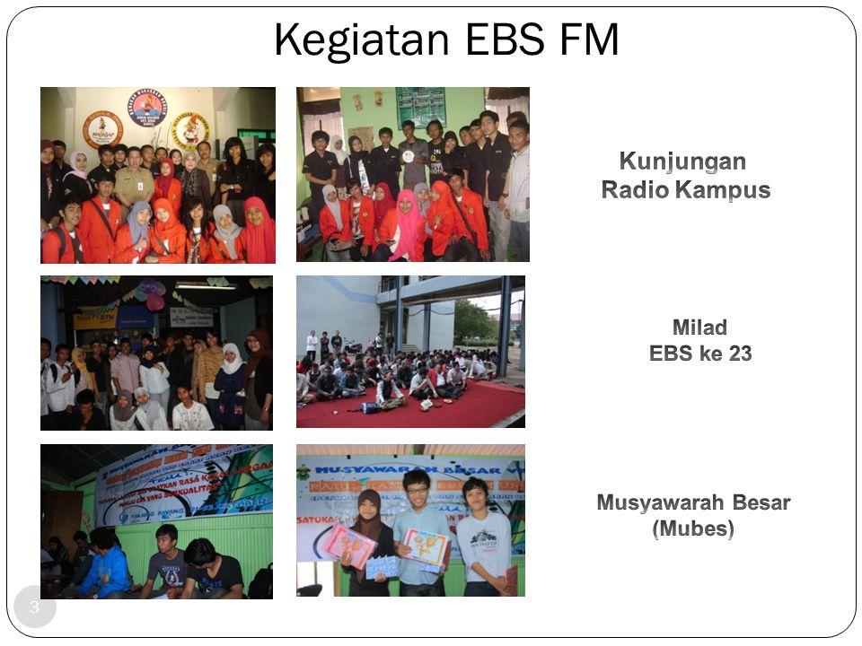 Kegiatan EBS FM Kunjungan Radio Kampus Milad EBS ke 23