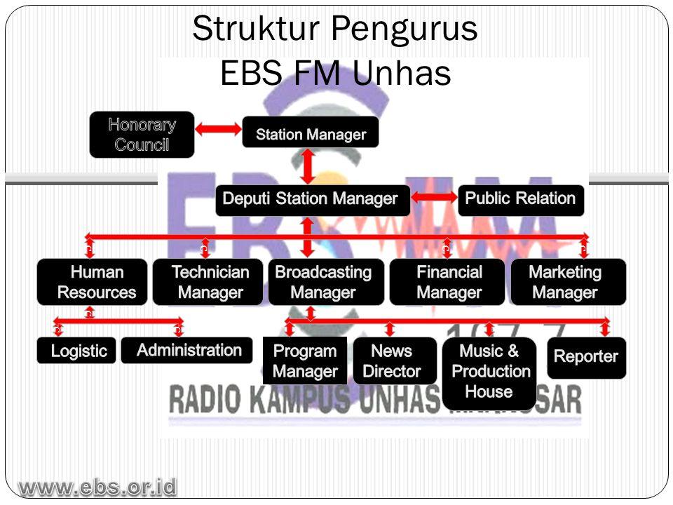 Struktur Pengurus EBS FM Unhas