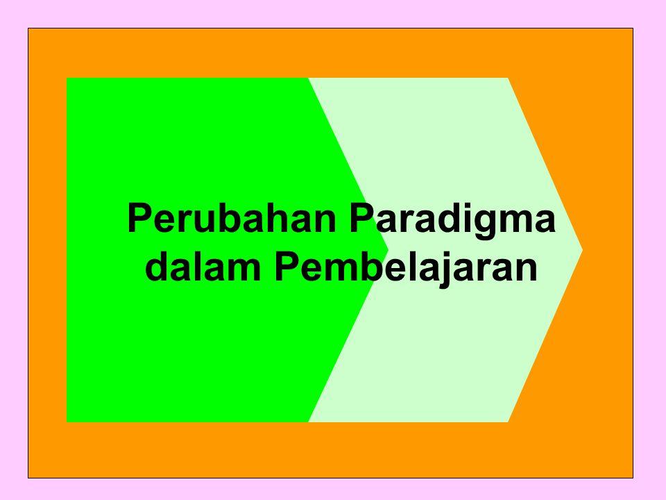 Perubahan Paradigma dalam Pembelajaran