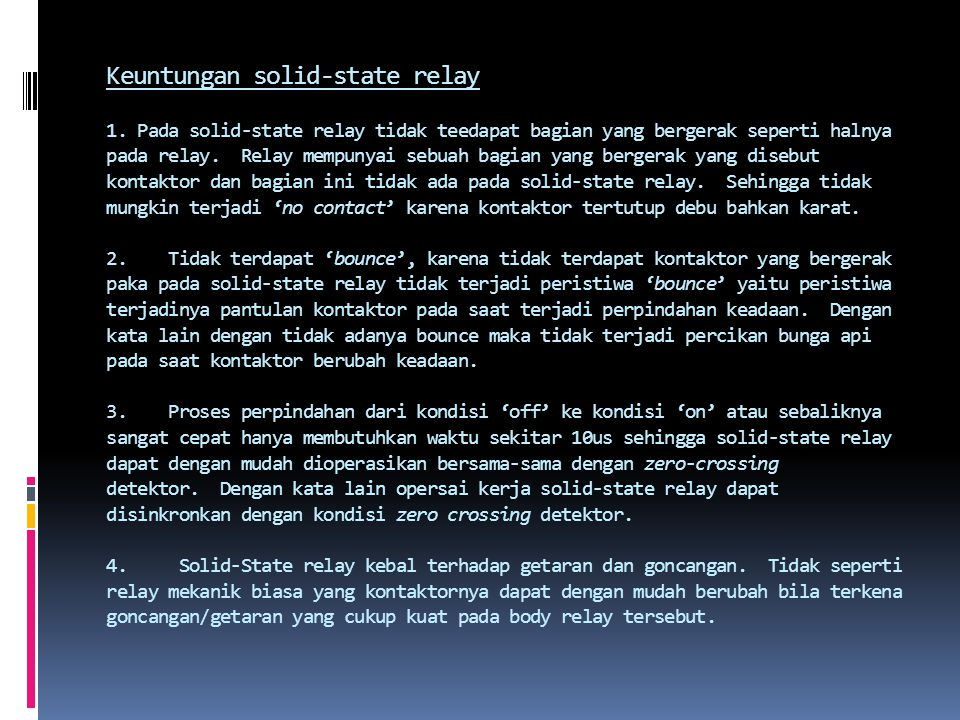 Keuntungan solid-state relay 1