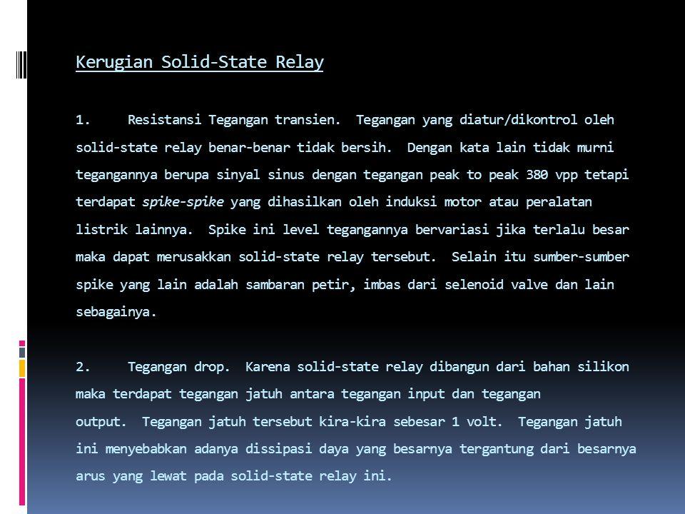Kerugian Solid-State Relay 1. Resistansi Tegangan transien