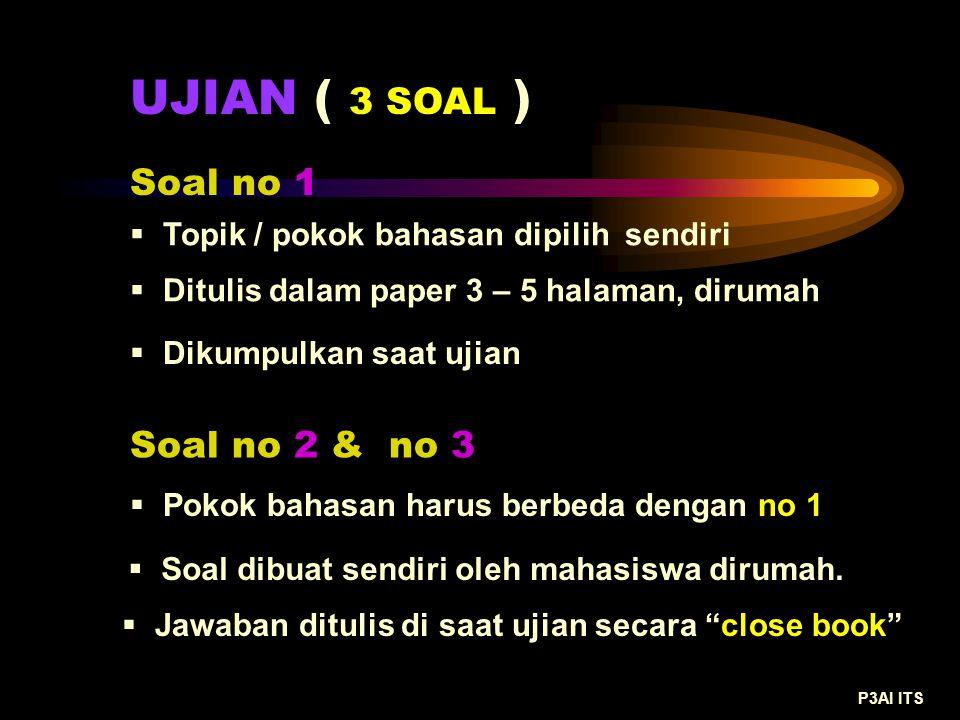 UJIAN ( 3 SOAL ) Soal no 1 Soal no 2 & no 3