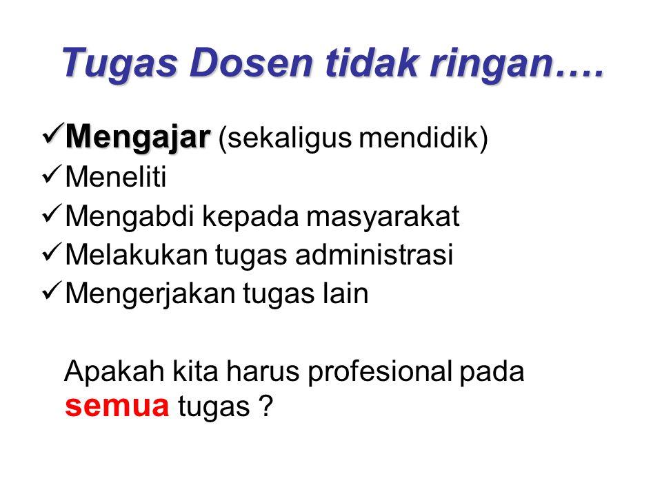 Tugas Dosen tidak ringan….