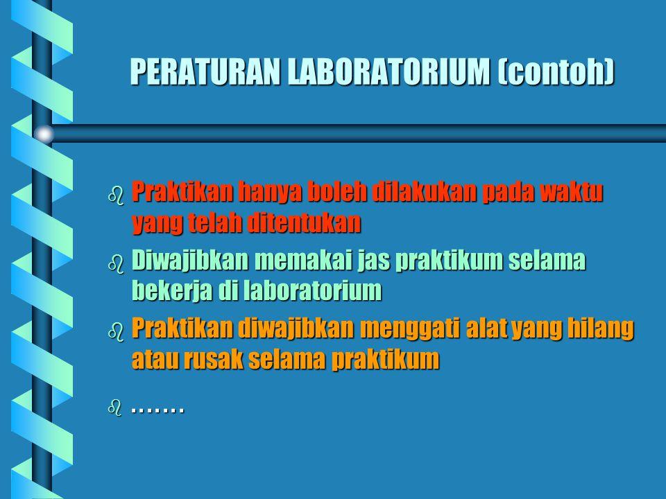 PERATURAN LABORATORIUM (contoh)