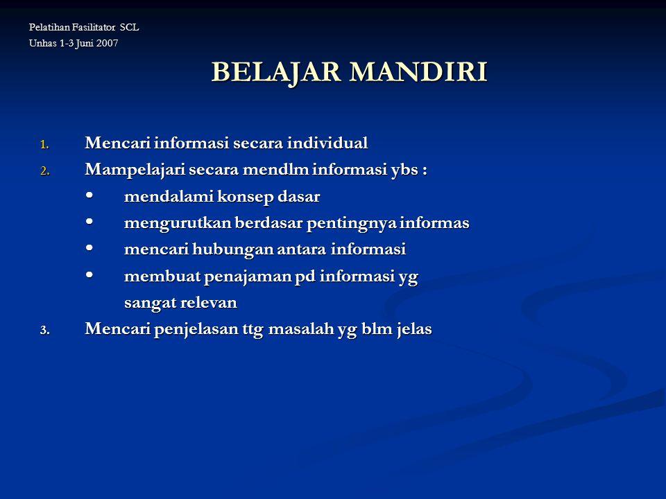 BELAJAR MANDIRI Mencari informasi secara individual