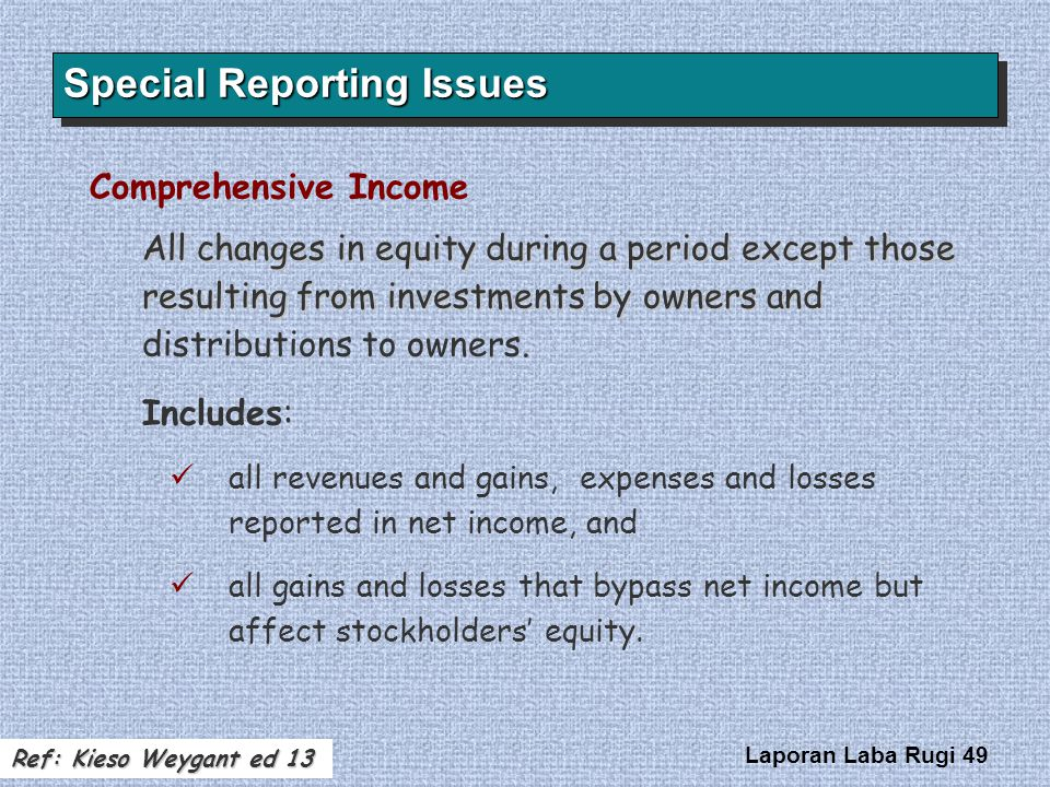 Special Reporting Issues
