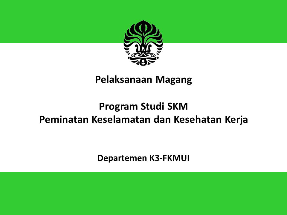Pelaksanaan Magang Program Studi SKM Peminatan Keselamatan dan Kesehatan Kerja