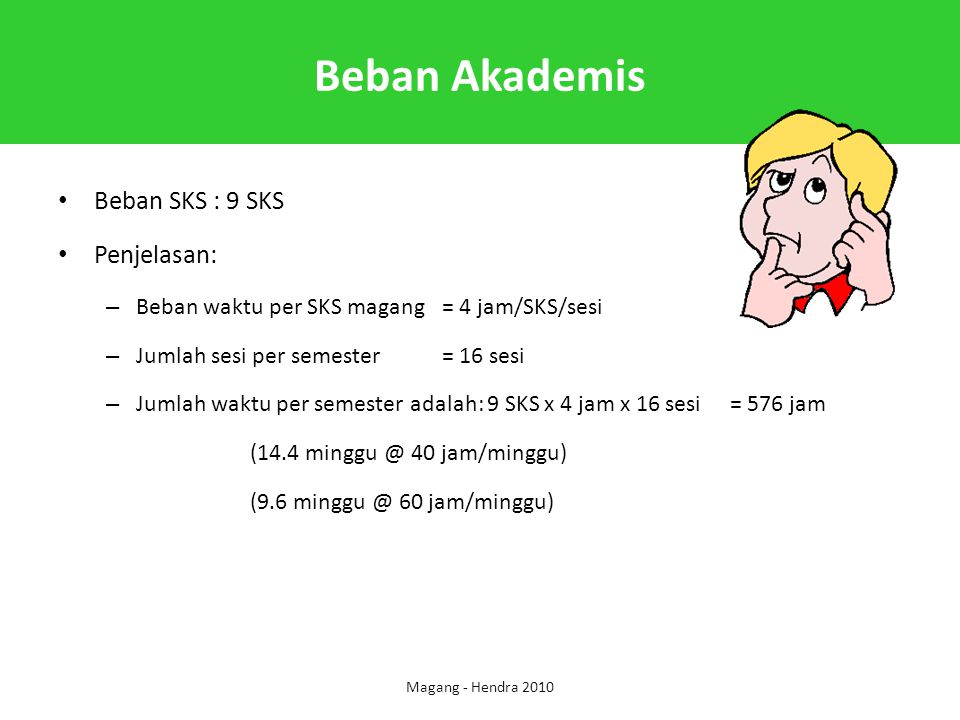 Beban Akademis Beban SKS : 9 SKS Penjelasan: